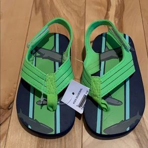 Blue/Green Shark Toddler Sandals